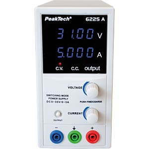 Laboratory Switching Mode Power Supply, 30 V, 3 A PEAKTECH P 6225 A
