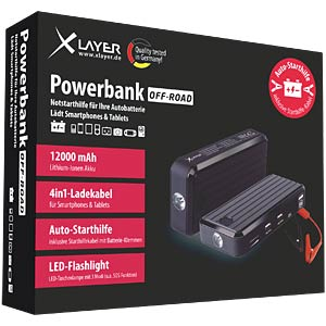 Mini power pack with jump start, 12 Ah XLAYER 207675