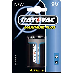 Rayovac alkaline battery, 9 V, pack of 1 VARTA 04022 944 401