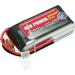 Akku-Pack, Li-Polymer, 11,1 V, 1500 mAh, 25/50 C RED POWER