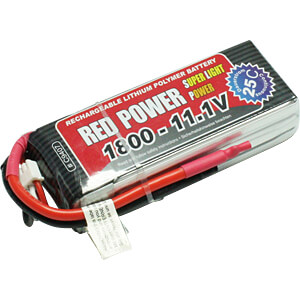 LiPo-accu RED POWER SLP 11,1 V, 3S, 1800 mAh RED POWER