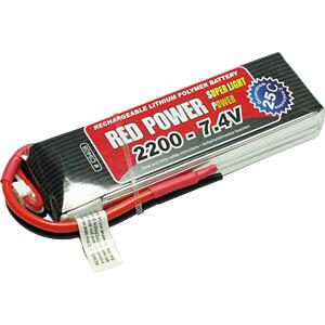 Akku-Pack, Li-Polymer, 7,4 V, 2200 mAh, 25/50 C RED POWER