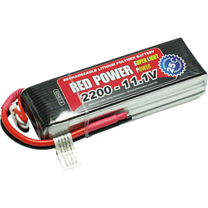 LiPo-accu RED POWER SLP 11,1 V, 3S, 2200 mAh RED POWER