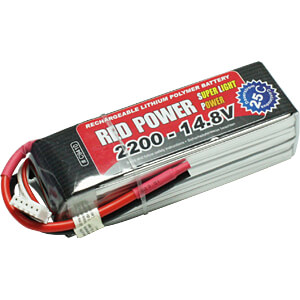 LiPo-accu RED POWER SLP 14,8 V, 4S, 2200 mAh RED POWER