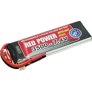 LiPo-accu RED POWER SLP 7,4 V, 2S, 3500 mAh RED POWER
