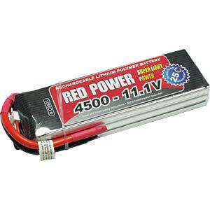 Akku-Pack, Li-Polymer, 11,1 V, 4500 mAh, 25/50 C RED POWER