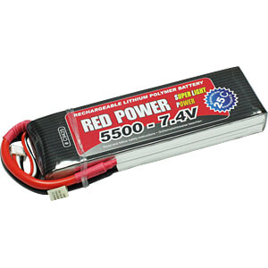 Akku-Pack, Li-Polymer, 7,4 V, 5500 mAh, 25/50 C RED POWER