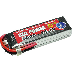 Akku-Pack, Li-Polymer, 11,1 V, 5500 mAh, 25/50 C RED POWER