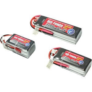 Akku-Pack, Li-Polymer, 7,4 V, 1500 mAh, 25/50 C RED POWER