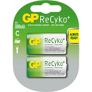GP ReCyKo+ batteries, 2x baby, 2600 mAH GP-BATTERIES GP 300CHCBC2