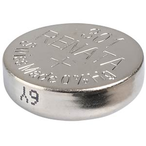 Silberoxid-Knopfzelle, 301, 130 mAh, 11,6 x 4,2 mm RENATA 301