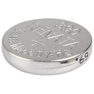 Silberoxid-Knopfzelle, 390, 60 mAh, 11,6 x 3,1 mm RENATA 390