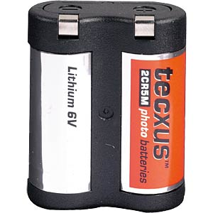 Lithium Batterie, 2CR 5M, 1300 mAh, 1er-Pack TECXUS 12005