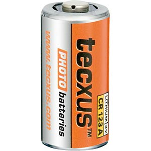 Lithium Batterie, CR123A, 1400 mAh, 1er-Pack TECXUS