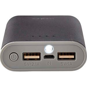Powerbank, Li-Ion, 7500 mAh, USB, schwarz NEDIS UPBK7500BK