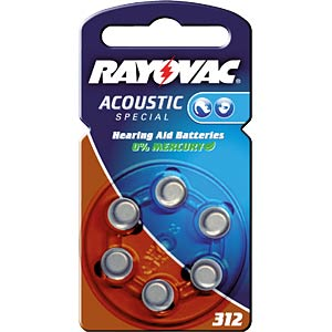 Pack of 6 zinc air button cells, 7.9x3.6 mm VARTA 4607 945 416