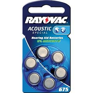 Pack of 6 zinc air button cells, 11.6x5.4 mm VARTA 04600 201 406