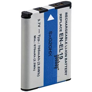 Li-ion camcorder battery 3.7V 600mAh, for Nikon FREI