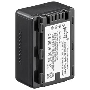 Li-ion camcorder battery 3.7V 1500mAh, for Panasonic FREI