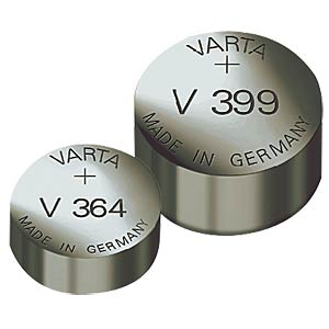 VARTA silver oxide button cell, 105 mAh, 11.6x4.1mm VARTA 00386 101 111