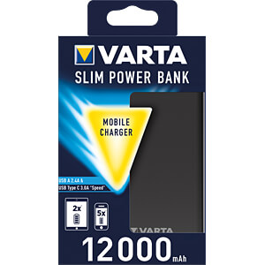 Powerbank, Li-Ion, 12000 mAh, USB-C VARTA 57966101111
