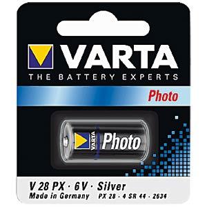 VARTA battery, 6 volt, 165 mAh, 13.0x25.2mm VARTA 04028 101 401