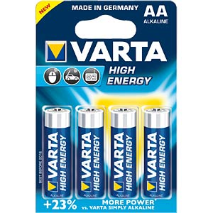 VARTA alkaline battery, mignon LR6, pack of 4 VARTA 04906 101 404