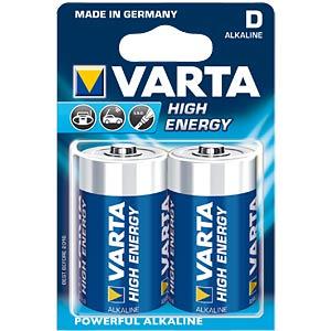 Alkaline Batterie, D (Mono), 2er-Pack VARTA 4920121412