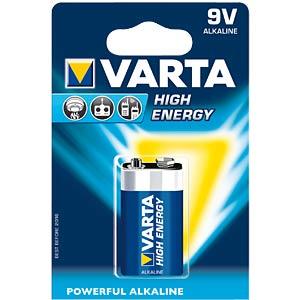 VARTA Alkaline-Batterie, 9-Volt-Block VARTA 04922 121 411
