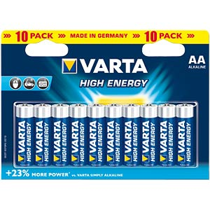 VARTA Alkaline-Batterie, Mignon LR6, 10er-Pack VARTA 04906 121 461