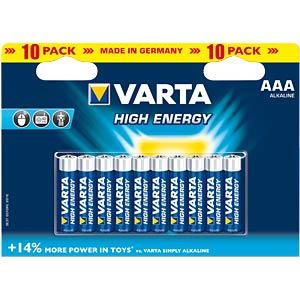 VARTA Alkaline-Batterie, Micro LR3, 10er-Pack VARTA 04903 121 461
