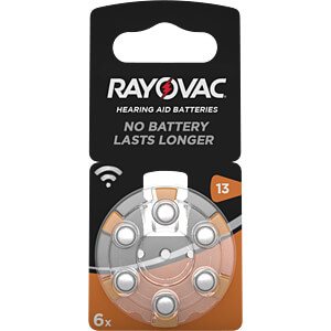 Pack of 6 zinc air button cells, 7.9x5.4 mm RAYOVAC 4606 945 416