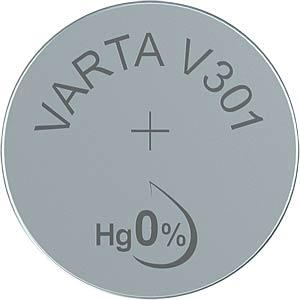 Silberoxid-Knopfzelle, V 301, 95 mAh, 11,6 x 4,2 mm VARTA 301101111