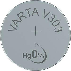 Silberoxid-Knopfzelle, V 303, 160 mAh, 11,6 x 5,4 mm VARTA 303101111