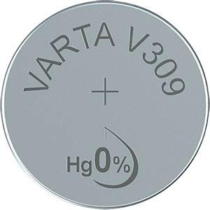 Silberoxid-Knopfzelle, V 309, 70 mAh, 7,9 x 5,4 mm VARTA 309101111