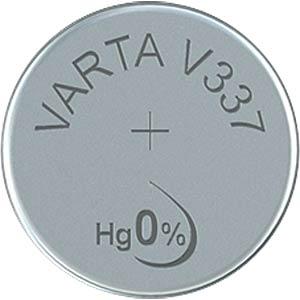 Silberoxid-Knopfzelle, V 337, 8 mAh, 4,8 x 1,7 mm VARTA 337101111