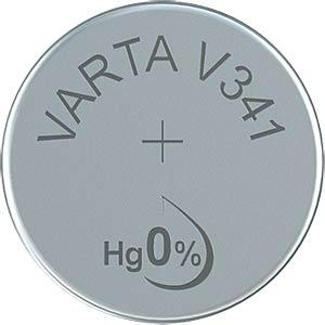 Silberoxid-Knopfzelle, V 341, 15 mAh, 7,9 x 1,5 mm VARTA 341101111