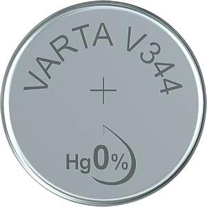 Silberoxid-Knopfzelle, V 344, 100 mAh, 11,6 x 3,6 mm VARTA 344101111