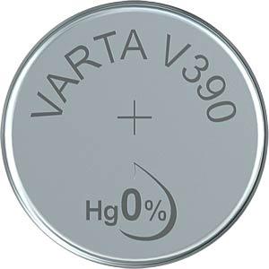 Silberoxid-Knopfzelle, V 390, 80 mAh, 11,6 x 3,1 mm VARTA 390101111