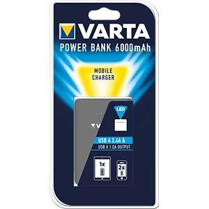 Powerbank, Li-Ion, 6000 mAh, USB, integrierte LED-Leuchte VARTA 57960101401
