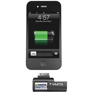 Powerbank für iPhone, CR123A, Apple 30-Pin Connector VARTA 57919 101 441
