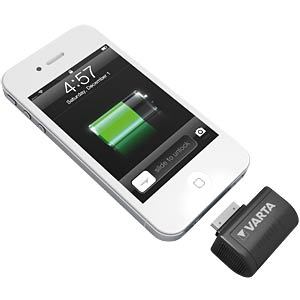 Powerbank für iPhone, CR123A, Apple 30-Pin Connector VARTA 57919 101 441