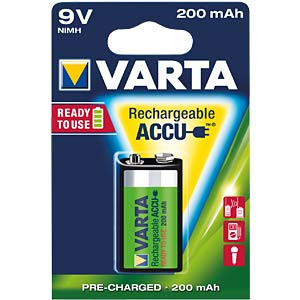 VARTA Ready-2-Use, 1x9V, 200mAh VARTA 56722 101 401