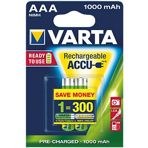 VARTA Ready-2-Use, 2xMicro, 1000mAh VARTA 05703 301 402