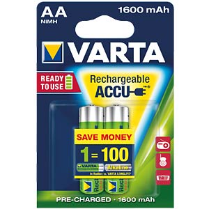 VARTA Ready-2-Use, 2xmignon, 1600mAh VARTA 56716 101 402