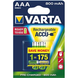 VARTA Ready-2-Use, 2xMicro, 800mAh VARTA 56703 101 402