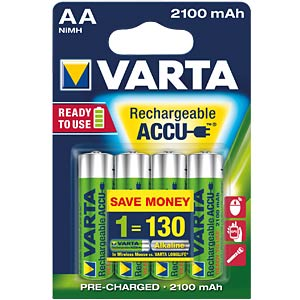 VARTA Ready-2-Use, 4xMignon, 2100mAh VARTA 56706 101 404