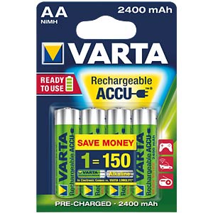 VARTA Ready-2-Use, 4xmignon, 2400mAh VARTA 56756 101 404