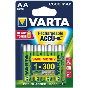 VARTA Ready-2-Use, 4xMignon, 2600mAh VARTA 5716 101 404