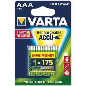VARTA Ready-2-Use, 4xMicro, 800mAh VARTA 56703 101 404